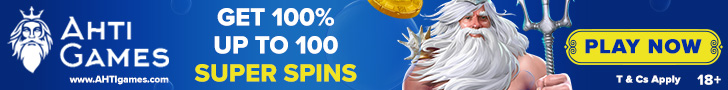 AHTI Games Casino 100% up to 100 Super Spins - BitCoin