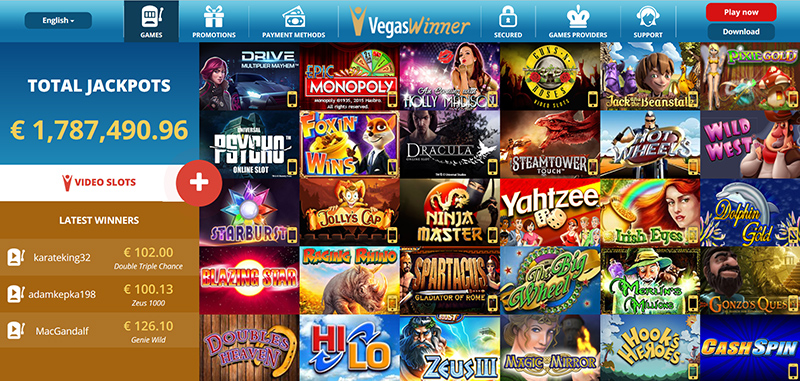 EUROVEGAS.THE BEST GAME CASINO Games